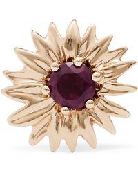 Aurelie Bidermann - 18-karat Gold Rhodolite Garnet Earring - Lyst