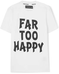House of Holland - Far Too Happy Printed Cotton-jersey T-shirt - Lyst