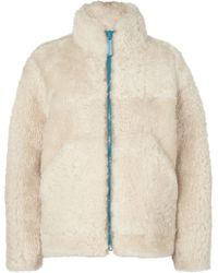 Burberry - Shearling Jacket - Lyst