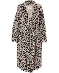 Max Mara - Oversized Leopard-print Faux Fur Coat - Lyst