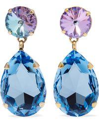 Roxanne Assoulin - Hip-hop But Not Gold-tone Swarovski Crystal Clip Earrings - Lyst