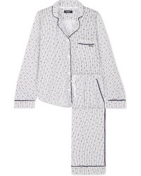 DKNY - Signature Printed Cotton-blend Jersey Pajama Set - Lyst
