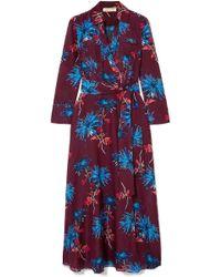 Diane von Furstenberg - Collared Wrap Dress Cover-up - Lyst