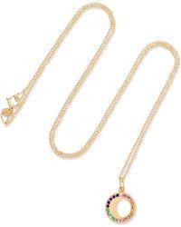 Andrea Fohrman - Waning Moon 18-karat Gold, Sapphire And Emerald Necklace - Lyst