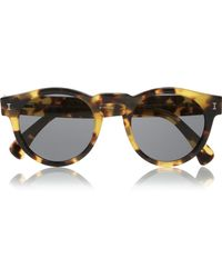 Illesteva - Leonard Round-frame Acetate Sunglasses - Lyst