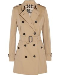 Burberry - The Kensington Mid Cotton-gabardine Trench Coat - Lyst