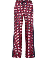 F.R.S For Restless Sleepers - Ettore Grosgrain-trimmed Silk-twill Straight-leg Trousers - Lyst