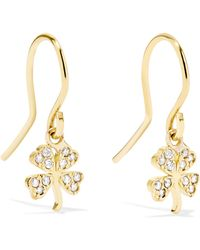 Jennifer Meyer - Mini Clover 18-karat Gold Diamond Earrings Gold One Size - Lyst