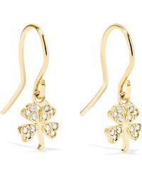 Jennifer Meyer - Mini Clover 18-karat Gold Diamond Earrings - Lyst