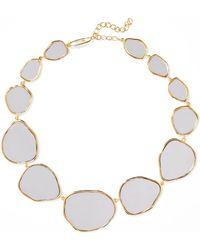 Aurelie Bidermann - Ciottolo Gold-plated Mirror Necklace Gold One Size - Lyst