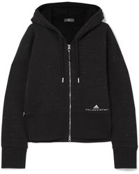 adidas By Stella McCartney - Essentials Organic Cotton-blend Jersey Hooded Top - Lyst