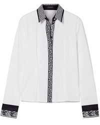 Versace - Printed Cotton-poplin Shirt - Lyst