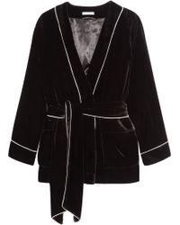 Ganni - Piped Velvet Jacket - Lyst