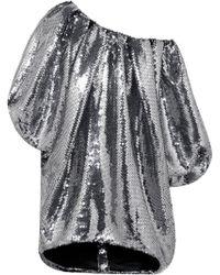 Halpern - Off-the-shoulder Sequined Tulle Mini Dress - Lyst
