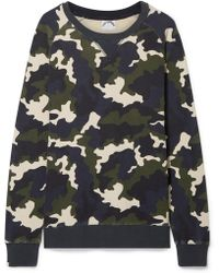 The Upside - Sid Camouflage-print Cotton-terry Sweatshirt - Lyst