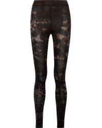 Raquel Allegra - Tie-dyed Stretch Cotton-blend Jersey Leggings - Lyst