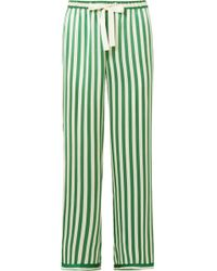Morgan Lane - Chantal Striped Silk-charmeuse Pajama Pants - Lyst