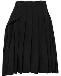 Comme des Garçons - Pleated Wool-gabardine Midi Skirt - Lyst