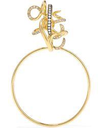 Gaelle Khouri - Epoche 18-karat Gold Diamond Earring - Lyst