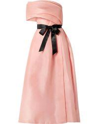 Monique Lhuillier - Draped One-shoulder Silk Gown - Lyst