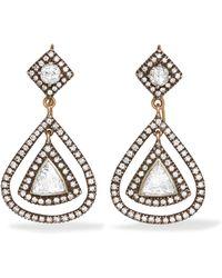Amrapali - 14-karat Gold, Sterling Silver And Diamond Earrings - Lyst