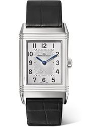 Jaeger-lecoultre - Reverso Classic Medium Thin Stainless Steel And Alligator Watch - Lyst