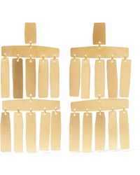 Annie Costello Brown - Roma Gold-tone Earrings - Lyst