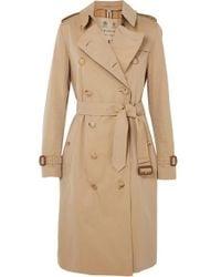 Burberry - Trench-coat En Gabardine De Coton The Chelsea - Lyst