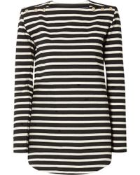 Balmain - Striped Cotton-jersey Top - Lyst