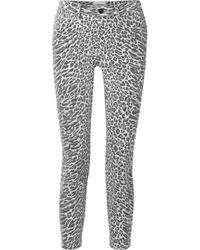 Current/Elliott - The Stiletto Cropped High Waist Skinny Jeans - Lyst