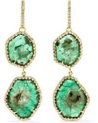 Kimberly Mcdonald | 18-Karat Gold, Emerald And Diamond Earrings | Lyst