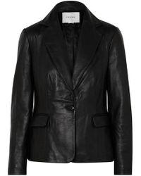 FRAME - Schoolboy Leather Blazer - Lyst