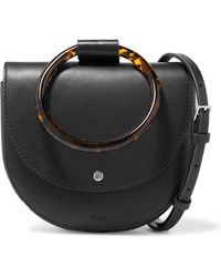 Theory - Whitney Small Leather Shoulder Bag - Lyst