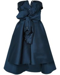 Alexis Mabille - Bow-detailed Embellished Duchesse-satin Mini Dress - Lyst