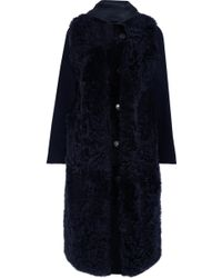 Yves Salomon - Hooded Shearling And Wool-blend Coat - Lyst