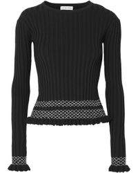 Altuzarra - Malou Embroidered Ribbed-knit Top - Lyst