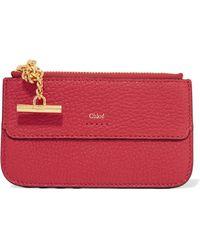 Chloé - Drew Textured-leather Cardholder - Lyst