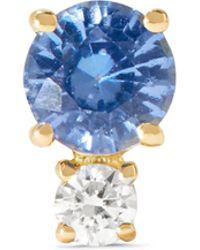 Jemma Wynne   18-karat Gold, Sapphire And Diamond Earring   Lyst