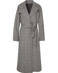 Nili Lotan - Topher Distressed Prince Of Wales Checked Wool-blend Tweed Coat - Lyst