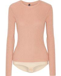 Tuxe Bodywear | Pacesetter Metallic Ribbed-knit Bodysuit | Lyst