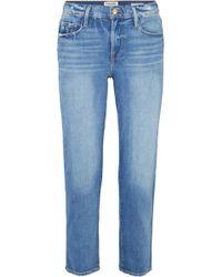 FRAME - Le Nouveau Cropped Mid-rise Straight-leg Jeans - Lyst