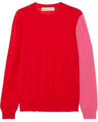 Marni - Color-block Cashmere Sweater - Lyst