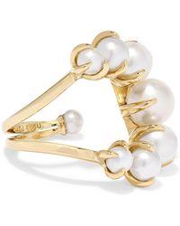 Ana Khouri - 18-karat Gold Pearl Ring - Lyst