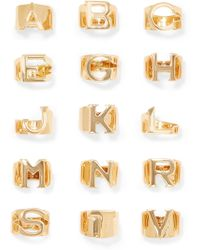 Chloé - Alphabet Gold-tone Ring Gold H - Lyst