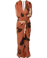 Jacquemus - La Robe Henri Asymmetric Twisted Fil Coupé Dress - Lyst
