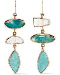Melissa Joy Manning   14-karat Gold And Sterling Silver Multi-stone Earrings   Lyst