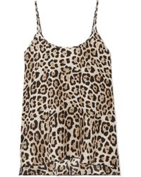 ATM - Leopard-print Silk-charmeuse Camisole - Lyst