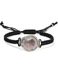 Kimberly Mcdonald - 18-karat Blackened White Gold, Geode And Diamond Bracelet - Lyst