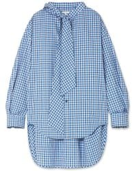 Balenciaga - New Swing Checked Cotton-poplin Shirt - Lyst