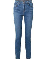 """J Brand - Ruby 30"""" Hoch Sitzende Jeans Mit Schmalem Bein - Lyst"""